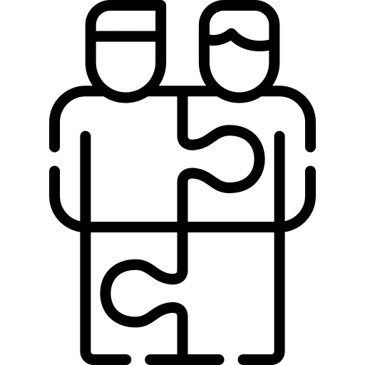 working togeter puzzle piece conversion copywriting